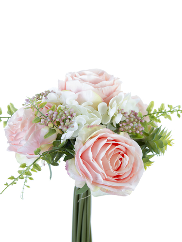 """Picture of 11""""ROSE,HYD,SUCCULENT BOUQ"""