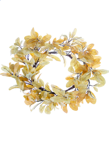 """Picture of 20"""" FALL LAUREL LF WREATH"""