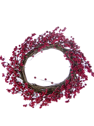 """Picture of 22""""CLUSTER BERRY WREATH"""