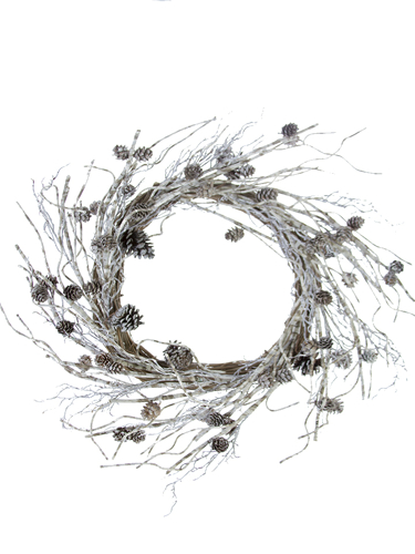 """Picture of 24""""TWIG/PCONE  WREATH"""