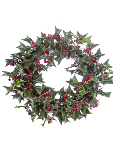 """Picture of 20"""" HOLLY LF & BERRY WREATH"""