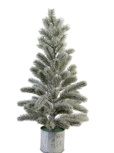 "Picture of 24"" FLOCKED BALSAM PINE W/POT"