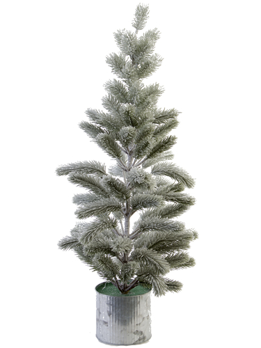 """Picture of 31"""" FLOCKED BALSAM PINE W/POT"""