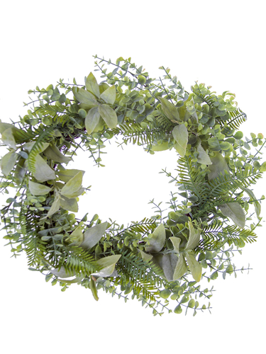 "Picture of 20"" SAGE/EUC/FERN WREATH"