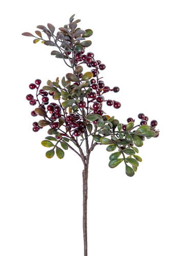 """Picture of 16"""" ROUND BERRIES LVS SPRAY"""