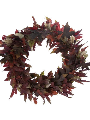 "Picture of 26"" RED MAPLE LF WREATH"
