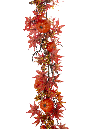 "Picture of 70"" PUMPKIN MAPLE MIX GARLAND"