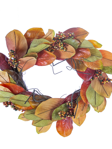 "Picture of 28""MAGNOLIA LEAF BERRY WREATH"