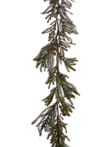 """Picture of 65"""" SPRUCE GARLAND W/CONES"""