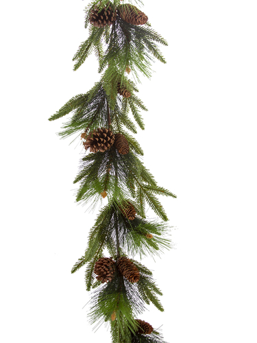 Picture of 5'FIR MIX GARLAND PINE W/CONES