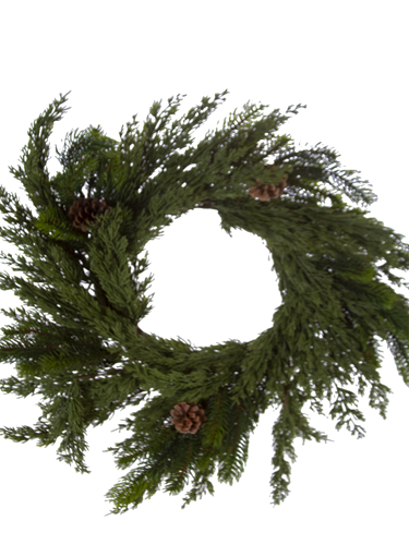 "Picture of 22"" SPRUCE CEDAR WREATH"