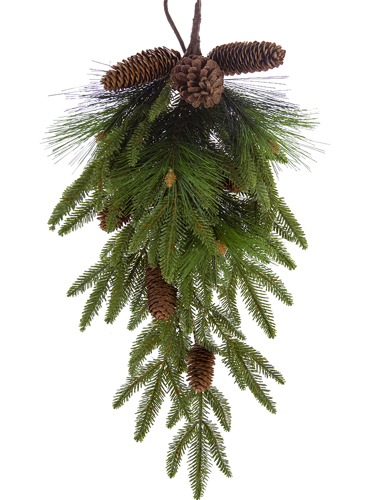 "Picture of 29"" FIR MIX W/CONES TDROP"