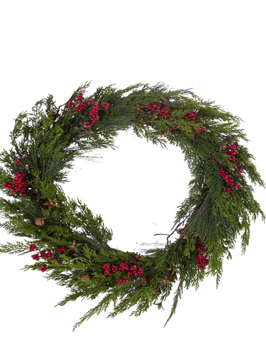 "Picture of 22""CEDAR BERRY WREATH"