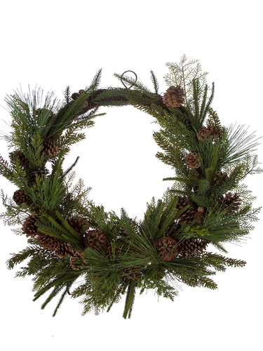 """Picture of 33"""" MIXED PINE WREATH"""