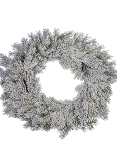 "Picture of 22"" FLOCKED SPRUCE WREATH"