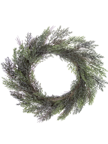"Picture of 22"" FROSTED CYPRESS WREATH"