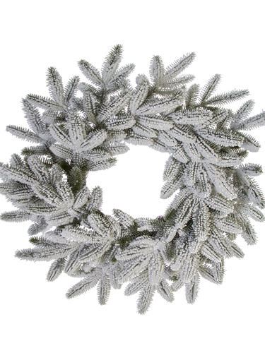 "Picture of 24"" FLOCKED SPRUCE WREATH"
