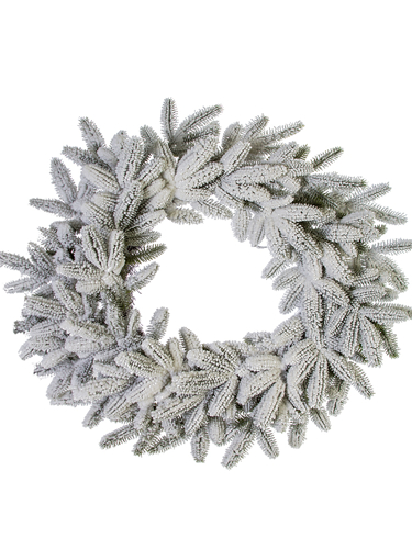 """Picture of 28"""" FLOCKED SPRUCE WREATH"""