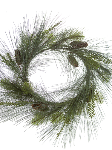 """Picture of 24"""" MIX PINE W/CONE WREATH"""