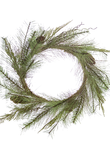 """Picture of 24"""" CEDAR / RED PINE WREATH"""