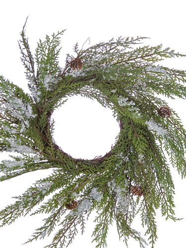 "Picture of 18"" SNOWY CYPRESS WREATH"