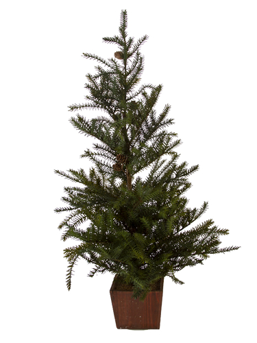 "Picture of 35"" SPRUCE TREE W/CONES"