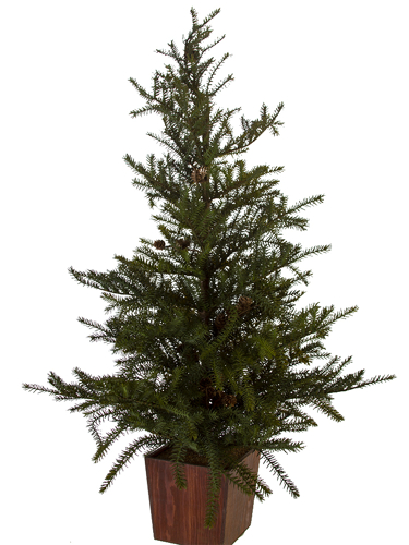"Picture of 45"" SPRUCE TREE W/CONES"