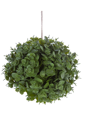 """Picture of 8"""" EUCALYPTUS BALL ORNAMENT"""